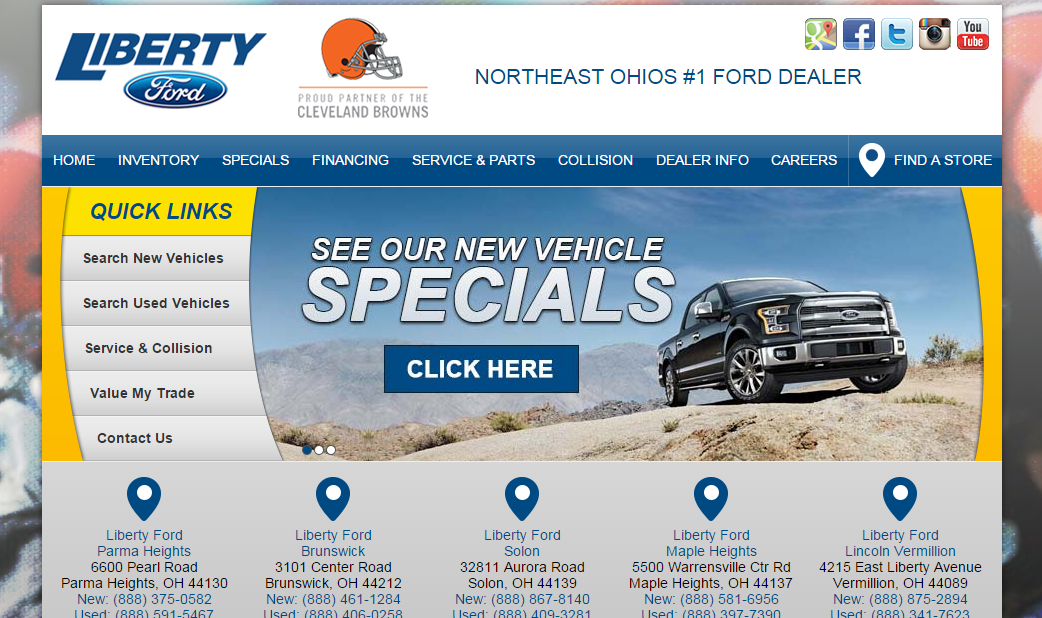 Liberty Ford Solon >> Liberty Ford Launches All-New Web Sites | Liberty Ford